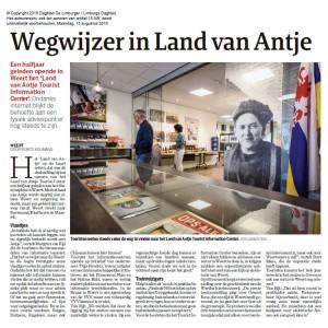 Krantenartikel Wegwijzer in Land van Antje