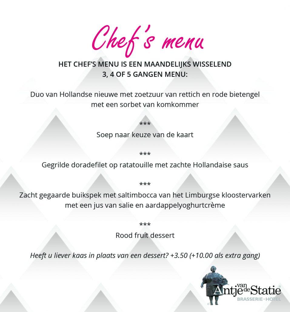 Chefs menu juli